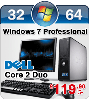 Complete Set of Dell OptiPlex 755 SFF Windows 7 Professional Desktop PC Computer