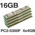 16GB (4x4GB) DDR2 PC2-5300F 667MHz ECC Fully Buffered Server Memory RAM HP Dell