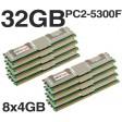 32GB (8x4GB) DDR2 PC2-5300F 667MHz ECC Apple Mac Pro 2006 2008 1.1 3.1