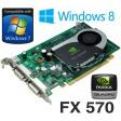 nVidia Quadro FX 570 256MB PCI-Express Dual DVI Graphics Card WX397