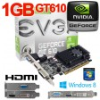nVidia GeForce GT 610 1GB DDR3 PCIe HDMI DVI VGA Low Profile Graphics Card