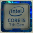 Genuine Intel Core i5 Inside Case Badge Sticker (7th Generation) 18mm x 18mm
