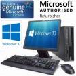 Complete set of Cheap Windows 10 Dual Core Desktop PC Computer DVD