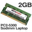 2GB PC2-5300 667MHz 200Pin DDR2 Sodimm Laptop Memory RAM