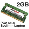 2GB PC2-6400 800MHz 200Pin DDR2 Sodimm Laptop Memory RAM