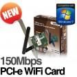 Addon 150Mbps WiFi Wireless PCI Express Adapter Card 802.11n NWP200E