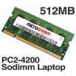 512MB PC2-4200 533MHz 200Pin DDR2 Sodimm Laptop Memory RAM