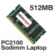 512MB PC2100 266MHz 200Pin DDR Sodimm Laptop Memory RAM