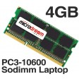4GB (1x4GB) PC3-10600 1333MHz 204Pin DDR3 Sodimm Laptop Memory RAM