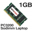 1GB 1024MB PC3200 400MHz 200Pin DDR Sodimm Laptop Memory RAM