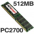512MB PC2700 333MHz DDR 184Pin NON-ECC Desktop PC Memory RAM