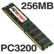 256MB PC3200 400MHz DDR 184Pin NON-ECC Desktop PC Memory RAM