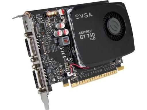 EVGA GeForce GT 740 Superclocked HDMI DVI DirectX 12 2GB PCI-Express Graphics Card