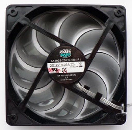 Cooler Master 3-pin Blue LED 120mm x 25mm Cooling Fan A12025-20RB-3KN-F1