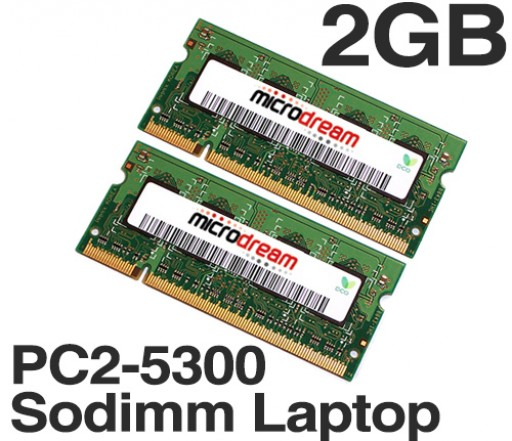 2GB (2x1GB) PC2-5300 667MHz 200Pin DDR2 Sodimm Laptop Memory RAM