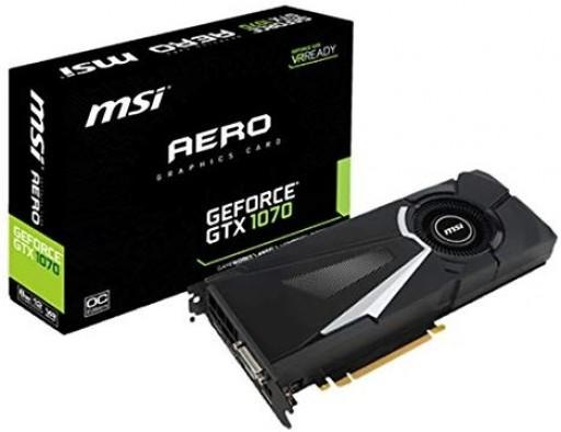 MSI GeForce GTX 1070 AERO 8G PCIE 3.0 8 GB GDDR5 Graphics Card