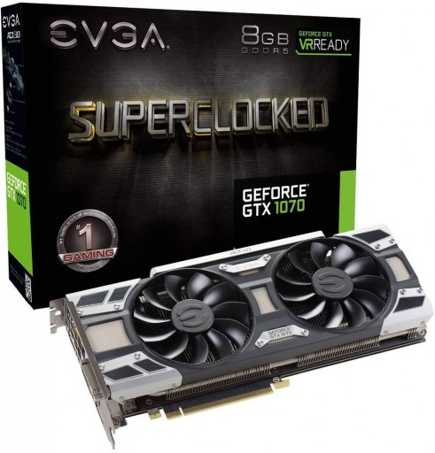 EVGA GeForce GTX 1070 SC GAMING ACX 3.0 8GB GDDR5 LED DX12 PXOC Graphics Card