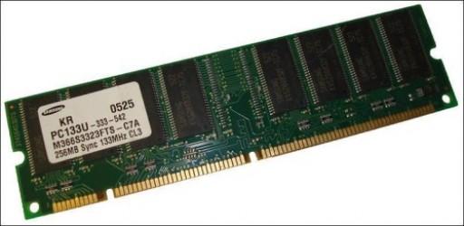 256MB PC133U 133MHz SDR DIMM 168Pin CL3 Samsung Memory M366S3323FTS-C7A