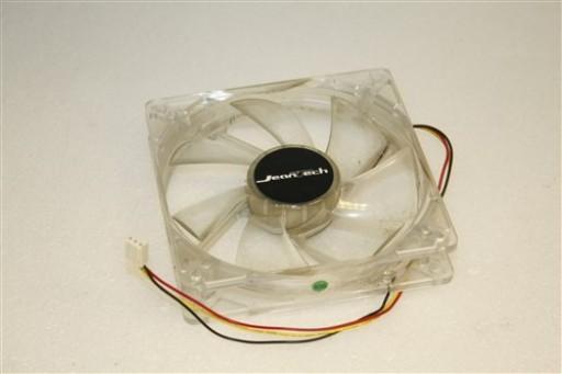 Jeantech Blue LED 120mm x 25mm 3-Pin Case Cooling Fan