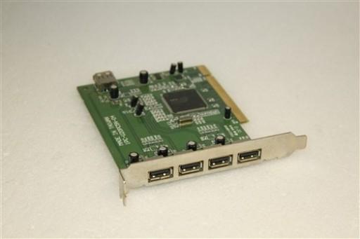 5 USB 2.0 Ports PCI Adapter Card 1PC-U20PC5N-04 Chipset NEC D720100