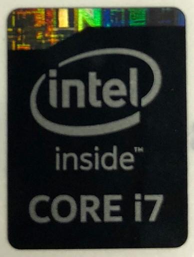 Genuine Intel Core i7 Inside Black Case Badge Sticker (4th Generation)