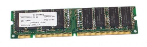 256MB Infineon PC133 133MHz SDRAM DIMM 168Pin CL3 Memory HYS64V32220GU-7.5-C2