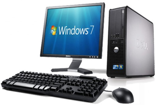 Complete set of Dell OptiPlex 745 Core 2 Duo E6400 4GB Windows 7 Computer