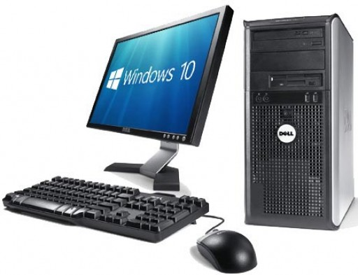 19-inch Monitor Gaming Ready Dell OptiPlex Tower 4GB GT 710 HDMI Windows 10 PC Computer