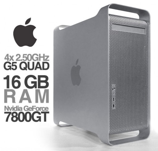 Apple Power Mac G5 QUAD 2.5GHz 16GB 500GB DVD-RW WiFi Bluetooth A1177 (Late 2005)