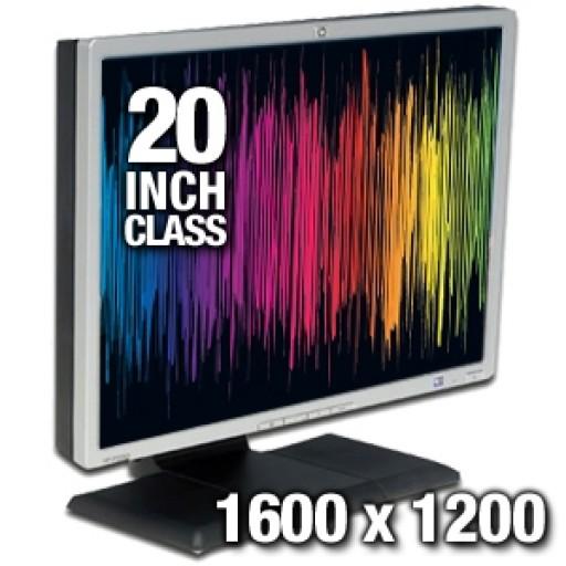 "20.1"" HP LP2065 Dual DVI Rotating LCD Monitor Black Silver with USB Hub"