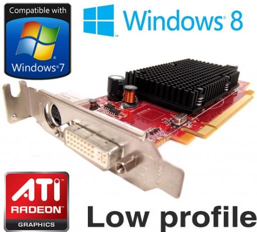 ATi Radeon HD 2400 Pro 256MB DVI PCI-e Low Profile Video Card YP477 XX347