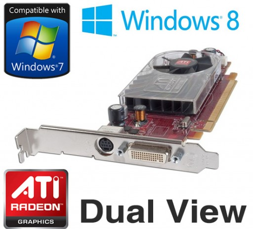 ATI Radeon HD 2400 XT Full Height PCI-e 256MB DMS59 Graphics Card FM351