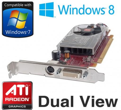 ATi Radeon HD 2400 XT 256MB DMS-59 PCI-e Dual View Graphics Card HW916