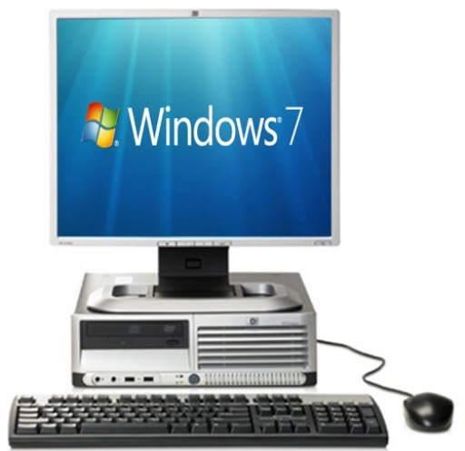 Complete set of HP Compaq dc7700 SFF Core 2 Duo 1GB 80GB DVD Windows 7 Desktop PC Computer