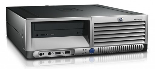 HP dc5100 Sff P4 HT 2.8GHz 1GB DVD Desktop PC Computer
