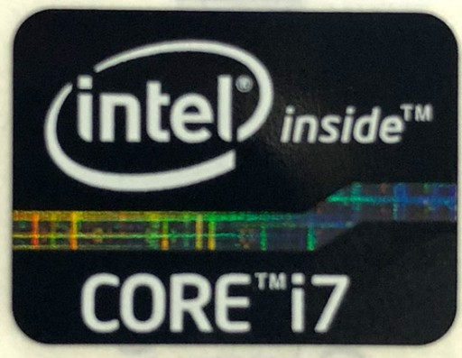 Genuine Intel Core i7 Inside Black Case Badge Sticker (2nd 3rd Generation)