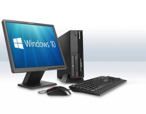 Complete set of Cheap Windows 10 Dual Core Desktop PC Computer DVD