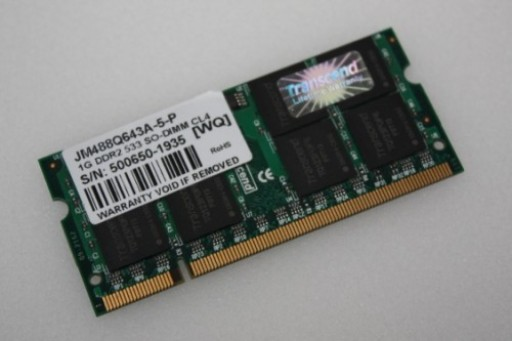 1GB Transcend JM488Q643A-5-P PC2-4200 533MHz CL4 DDR2 Sodimm Laptop Memory