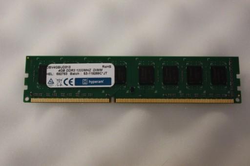Hyperam 4GB DDR3 PC3-10600 1333MHz DIMM 240Pin CL9 Memory