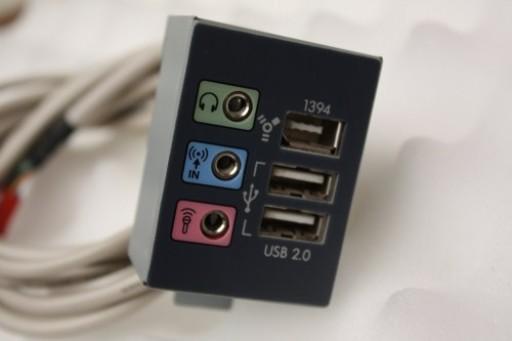 HP Pavilion t000 t775 Front USB Audio Panel Ports 22-11424-01