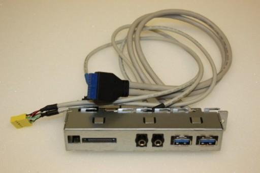 HP Pavilion p6 Series USB Audio Card Reader Panel Cables 657122-003