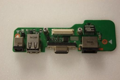 Dell Inspiron 1545 DC Power Jack USB VGA Ethernet Board 48.4AQ03.021