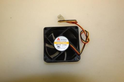 Y.S Tech FD127025LB 70mm x 25mm 3Pin Case Fan