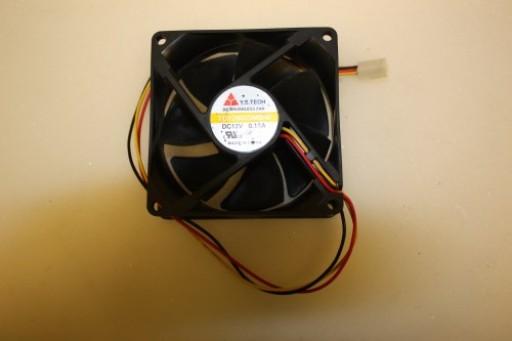 Y.S Tech FD128025MB-N 80mm x 25mm 3Pin Case Fan