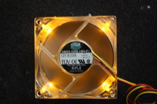 Cooler Master A8025-25RB-3BN-P1 80mm x 25mm Yellow LED 3Pin Case Fan