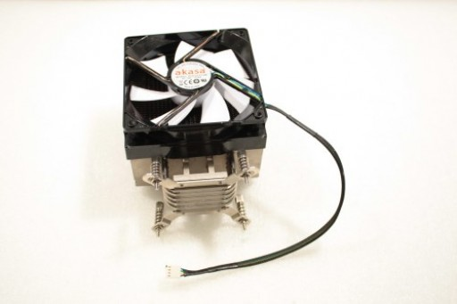 Freedom Tower LED Akasa 120mm X 25mm CPU Heatsink Fan Intel 775 1156 1366 Clip