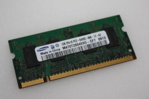 1GB Samsung PC2-6400 DDR2 Sodimm Memory M470T2864EH3-CF7