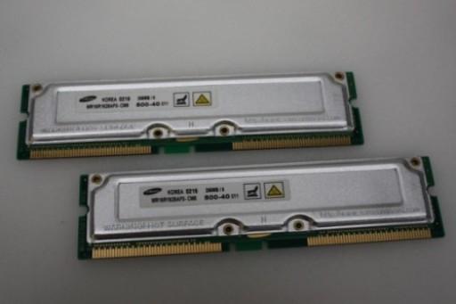 MR16R1628AF0-CM8 512 MB 2 X 256 MB Samsung Rambus Rimm RDRAM PC800-40
