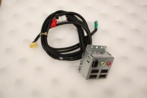 Dell Studio XPS 435MT USB Audio Firewire Ports Panel 0P735K P735K