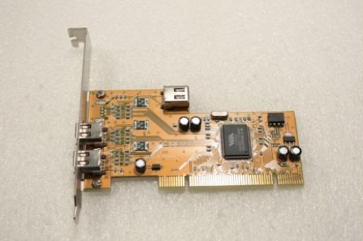 VIA VT6306 Full Size PCI 3 IEEE 1394 Firewire Ports Adapter Card